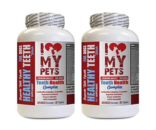 I LOVE MY PETS LLC Dog Dental Chews - Dog Teeth Health Complex - for Healthy Gums and Bad Breath - Dog Vitamin b Supplement - 120 Treats (2 Bottles)
