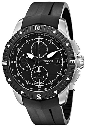 Tissot Rubber Wrist Watch - Tissot Men's Automatic Stainless Steel and Rubber Dress Watch, Color:Black (Model: T062.427.17.057.00)