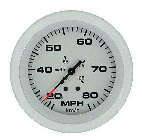(Sierra International 68372P Arctic 20 to 80 MPH Dial Range Speedometer Kit Includes Pitot & Hose, 3