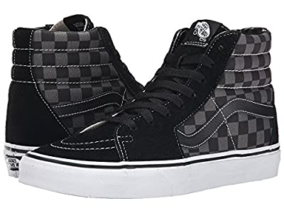 Vans Men's Sk8-Hi MTE Skate Shoe (39 M EU / 7 D(M) US, Black/Pewter Checkerboard)