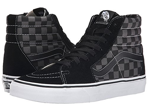 Tm Black Hi Canvas Classics Core Checkerboard Men's Sk8 Pewter Vans gcWZ467Y4