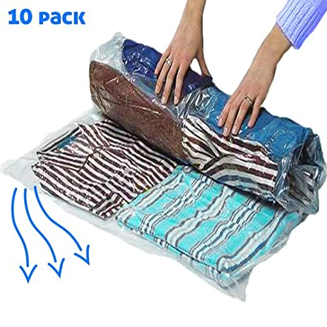 10 Large Vacuum Storage Bags For Saving Space When Packing Storing Clothes Or Bedding