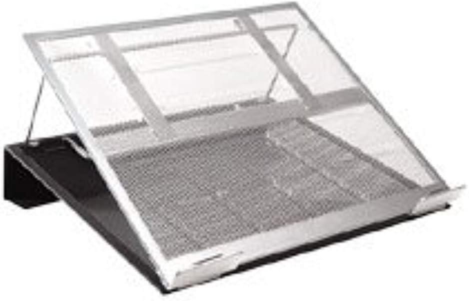 Laptop Stand,Mesh Metal,w//Cord Orgnzr.//Hub Compatible,BK//SR Qty:6