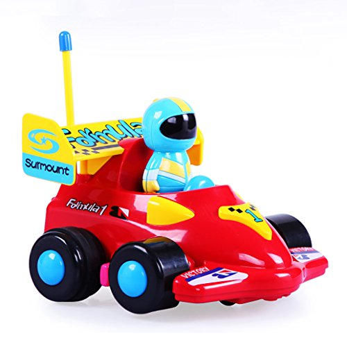 DeXop RC Cartoon Race Car Electric Radio Control Toy with Removable Action Figure & Music & Lights for Toddlers & Young Children from DeXop
