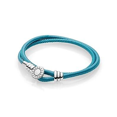 3ca3afaa5476 Pandora Pulsera cuerda Mujer plata - 597194CTQ-D1  Amazon.es  Joyería