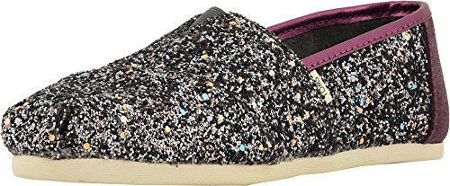 TOMS Women's Alpargata Pewter Party Glitter (Vegan) 8 B US