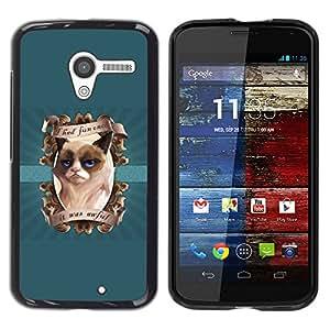 YiPhone /// Prima de resorte delgada de la cubierta del caso de Shell Armor - I had Fun Once Funny Cat - Motorola Moto X 1 1st GEN I XT1058 XT1053 XT1052 XT1056 XT1060 XT1055