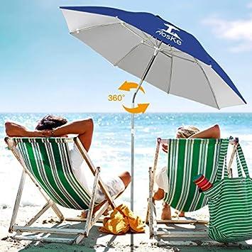 AosKe Patio Umbrella Beach Umbrella Sports Umbrella Portable Sun Shade Umbrella Inclined Heat Insulation Antiultraviolet SPF 50