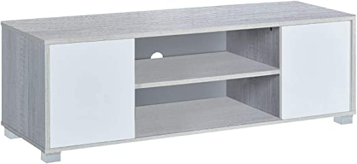 Myoshome - Mueble TV Salon Mesa para TV Color Roble Polar y Blanco ...