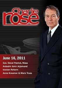 Charlie Rose - Gov. Deval Patrick, Mass / Ardeshir Amir Arjomand / Iranian Reform  (June 16, 2011)