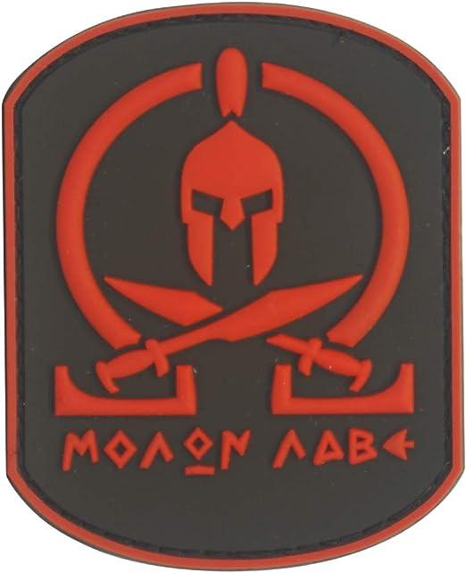 Cobra Tactical Solutions Molon Labe Rojo Parche PVC Táctico Moral Militar con Cinta adherente de Airsoft Paintball para Ropa de Mochila Táctica: Amazon.es: Hogar