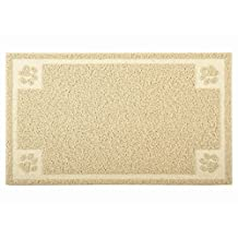 """PALMOO Premium Non-Slip Cat litter mat Medium size for little pet Traps Litter from Box and Paws, Soft on Sensitive Kitty Paws, Easy to Clean, Durable. 24""""L 16""""W"""