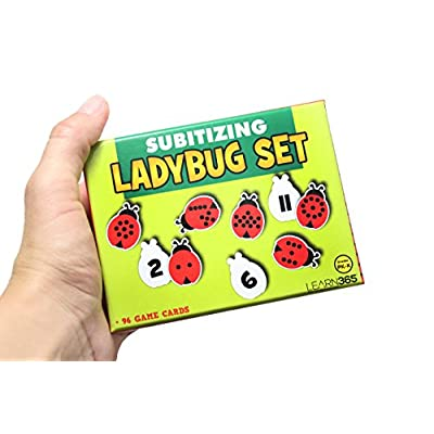 Curious Minds Busy Bags Ladybug Number Subsidizing Puzzle - Counting Activity - One -to - One Correspondence: Toys & Games