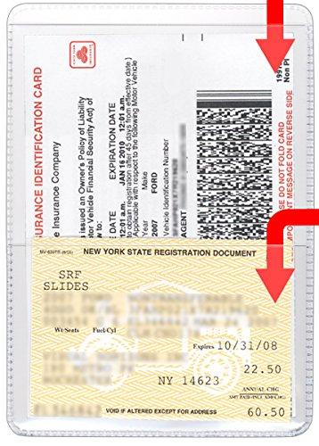 StoreSMART - Clear-Plastic Auto Insurance & ID Card Holders - 300 Pack - RFS20-C300