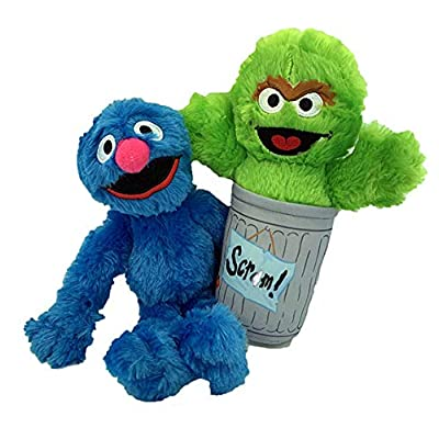Sesame Plush Toy Set of 2 Grover and Oscar The Grouch: Toys & Games [5Bkhe1105700]