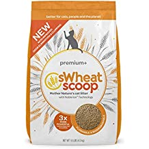 sWheat Scoop Premium+ Cat Litter Clumps, 10 lb