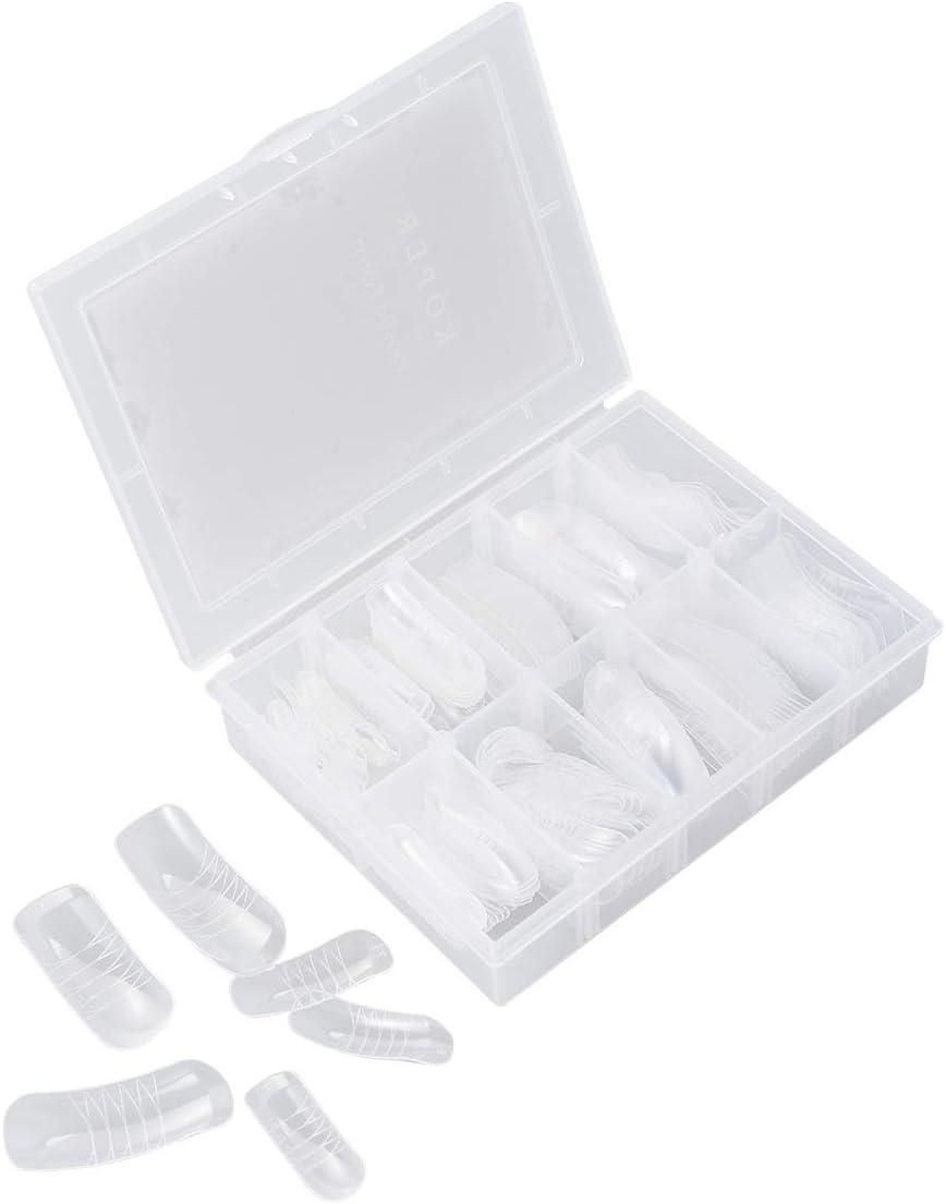 Lurrose 140 UNIDS Formas duales Sistema de uñas acrílicas para moldes de uñas falsas Cubiertas completas Consejos para uñas Gel UV para extensión de uñas