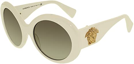 94ddf624caa6 Image Unavailable. Image not available for. Colour  Versace Women s  Gradient VE4298-404 11-55 White Oval Sunglasses