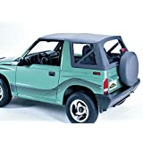 Pavement Ends by Bestop 51137-15 Black Denim Replay(TM) Replacement Soft Top Clear Windows-No door skins included-No frame hardware included- 1988-1994 Geo Tracker/Suzuki Sidekick