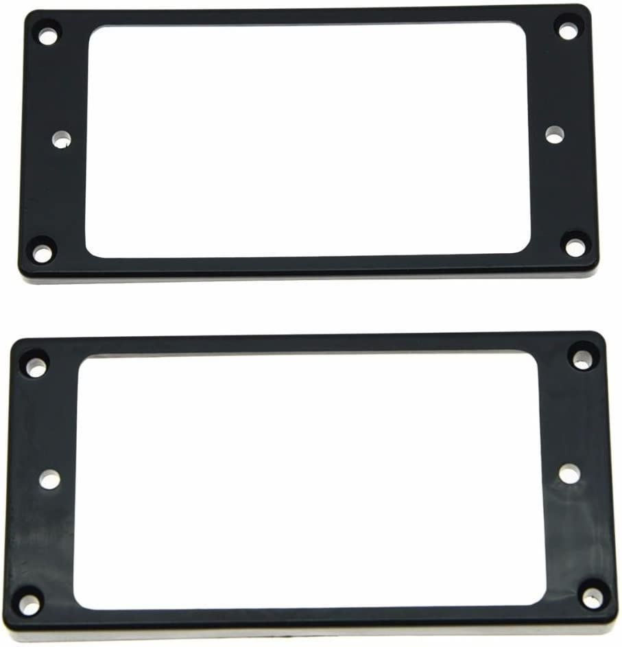 Dopro Set of 2 Humbucker Pickup Ring Pickup Mounting Frame Curved Bottom 35 for Neck and 79 for Bridge Pickup Black