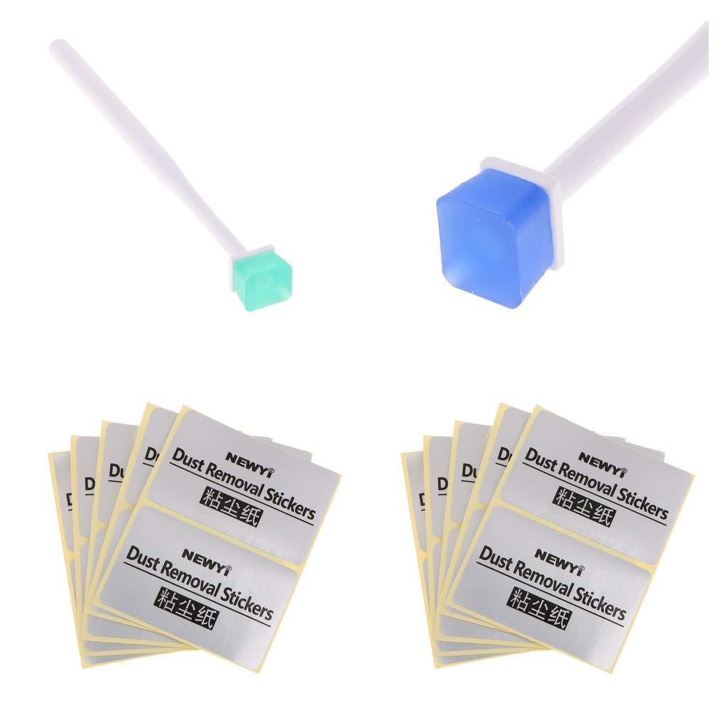 perfk 2 Unidades de Limpiador para Limpiar Cá mara Stick Ccd Swab Cmos Brush Sensor Pen Pantalla LCD Lente Filtro