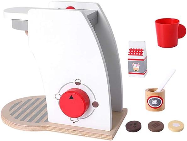 CFPacrobaticS Mini Máquina De Café De Pan De Simulación De Madera Licuadora Para Niños Juego De Roles Juguete Modelo Regalo De Navidad Cafetera: Amazon.es: Hogar