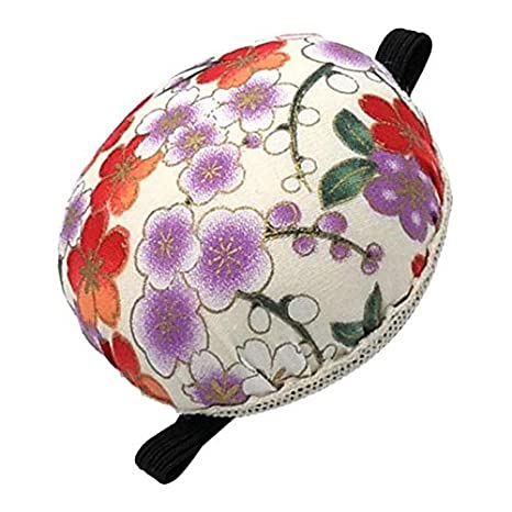 Beige 1 LoveinDIY 1Pcs Pin Cushion Wrist Printed Fabric Coated Pin Cushions Wearable Sewing Needle Pincushions for Needlework Embroidery