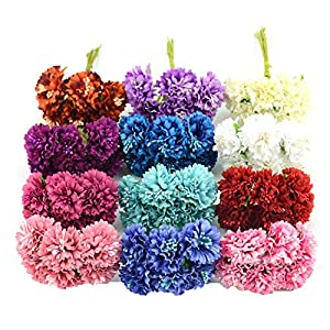 Miao Express 6pcs/lot Silk Chrysanthemum Artificial Flower Bouquet for Wedding Home Decoration Mariage Flores Rose Flowers 104