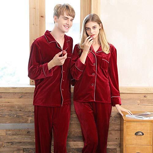 Damas Rojo Casual Pijamas Servicio Cómodo Invierno Cn A De Novia Terciopelo Traje B Pareja Otoño Domicilio Boda E PHqtIx