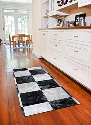 Faux Flooring Faux Tile Floor Runner, 25