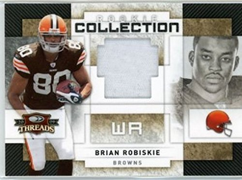 - 2009 Donruss Threads Rookie Collection Jersey Prime #21 Brian Robiskie NM-MT GU /25 Browns