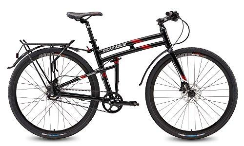 "Montague Allston 19"" Hybrid Folding Bike Gloss Black/Red"
