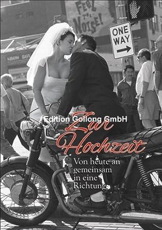 Gluckwunschkarte Zur Hochzeit Brautpaar Mit Motorrad Amazon De