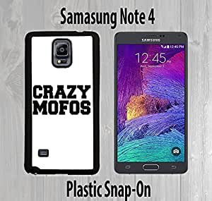Crazy Mofos White Custom made Case or Cover skin FOR Samsung Galaxy Note 4 Black Case case for iphone bumper for...