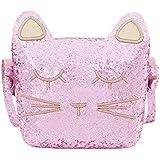 CMK Trendy Kids Cute Cat Toddler Purse for Little Girls, Kids Crossbody and Shoulder Bag Ages 3-10 (82010_GPK)