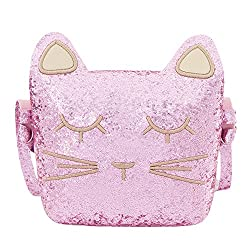 Trendy Sequin Cat Purse for Little Girls