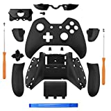 xbox controller board - YICHUMY Matte Black Controller Housing Shell Full Set Faceplates Buttons for Xbox One Controller with The 3.5 mm Headset Jack xbox one controller shell kit with 3.5 port