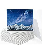 Painting Canvas Panels, Ohuhu 20 Pack 8x10 Inch Canvas Boards Canvases 100% Cotton, Acid Free Primed Canvas Panel, Artist Canvas Boards for Students & Kids, Art Workers, Professional Choice