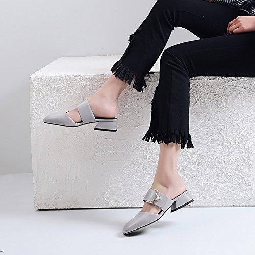 y y Zapatos Pantuflas de y Comfort Carrera Vestido XUE Zapatos Zapatos Transpirables de Noche de de Sandalias Summer ahuecados Un y Fiesta Mujer Moda Chanclas PU Vestido Carrera Trabajo para Caminar qxx8wfd