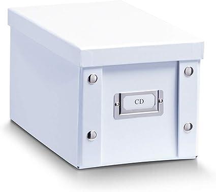 Zeller 17760 Caja de almacenaje de cartón Blanco (White) 16.5 x 28 x 15 cm: Amazon.es: Hogar
