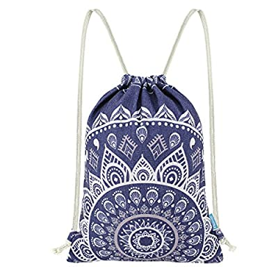 0438a7fec lovely Miomao Drawstring Backpack Gym Sack Pack Mandala Style Casual Bag  Cinch Pack Christmas Gift Bags