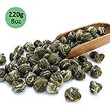 Tealyra - Imperial Jasmine Dragon Pearls - Loose Leaf Green Tea - Jasmine Green Tea with Pleasant Aroma and Tonic Effect - 220g (8-ounce)