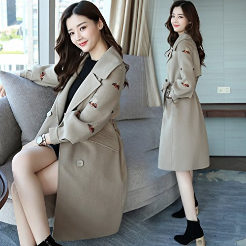 Sleeve Knot Female Temperament paste Bow Clothing Long Bean LD color Long Coat Sweet Stylish Jacket Elegant nw4YfqaF