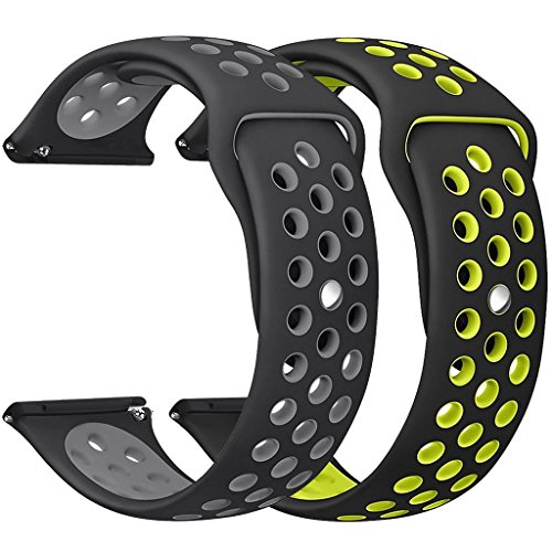DEKER-Compatible-Bands-Replacement-for-Fitbit-Versa-Bands-Women-Men-Small-Large-Wrist-2-Pack-of-Breathable-Soft-Silicone-Sport-Straps-Replacement-Accessories-Fitness-Wristbands