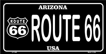 Smart Blonde Route 66 Arizona Red Novelty State Background Vanity Metal License Plate Tag Sign