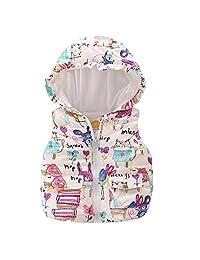 LittleSpring Little Girls' Vest Hooded