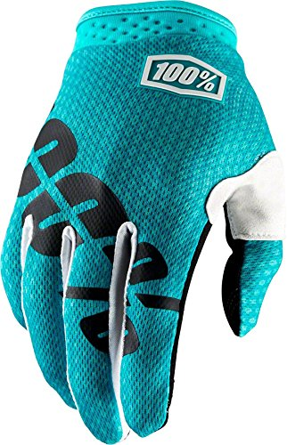 100% I-Track Men's Off-Road Gloves - Teal / Small Single Track Cycling Gloves