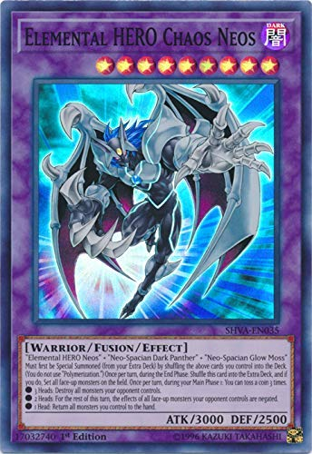 Yu-Gi-Oh! - Elemental HERO Chaos Neos - SHVA-EN035 - Super Rare - 1st Edition - Shadows In Valhalla