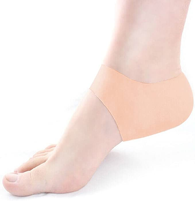 2pcs Silicone Feet Heel Protector Plantar Fasciitis Pain Relief Cushion Pad Care