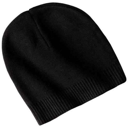 Port Authority Men's 100% Cotton Beanie OSFA Black